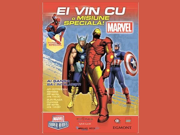 Concurs cu supereroi din desenele animate