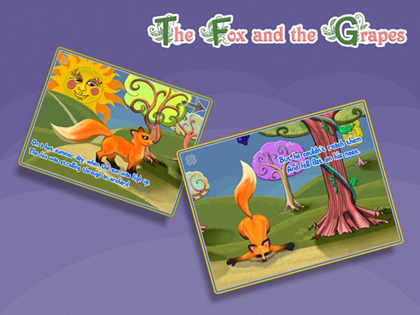Poveștile interactive sunt pe iPad, am descoperit The Fox and the Grapes [concurs încheiat]