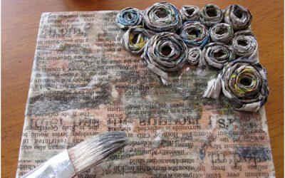 Reviste și pliante reciclate idei de proiecte DIY