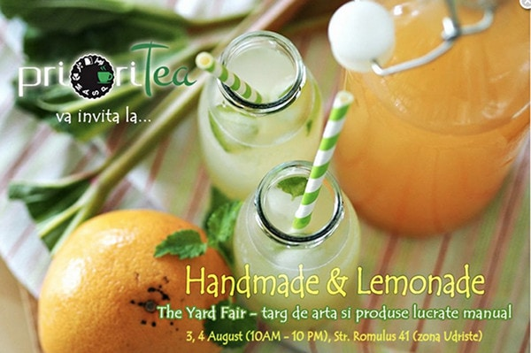 Hand-made și limonadă sau invers, la PrioriTea