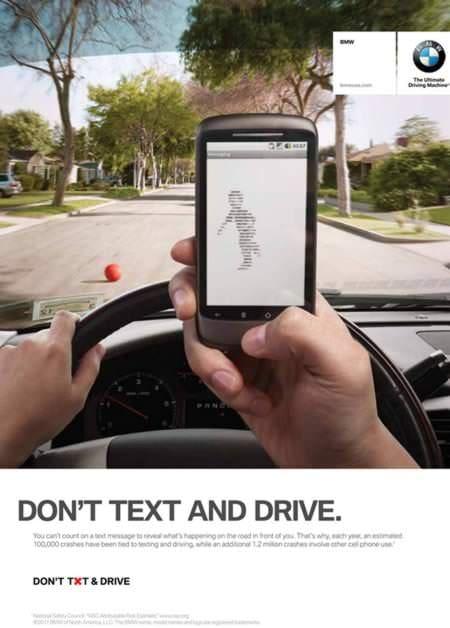 Reclame șocante – fără SMS la volan