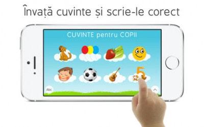 Cuvinte pentru Copii, aplicația care ne învață prin joacă
