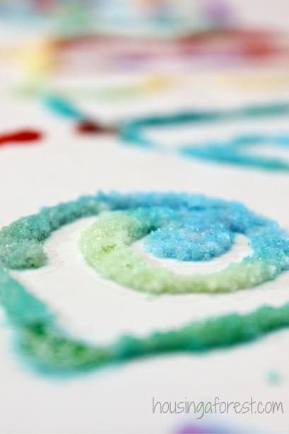 Picturi cu sare și nisip