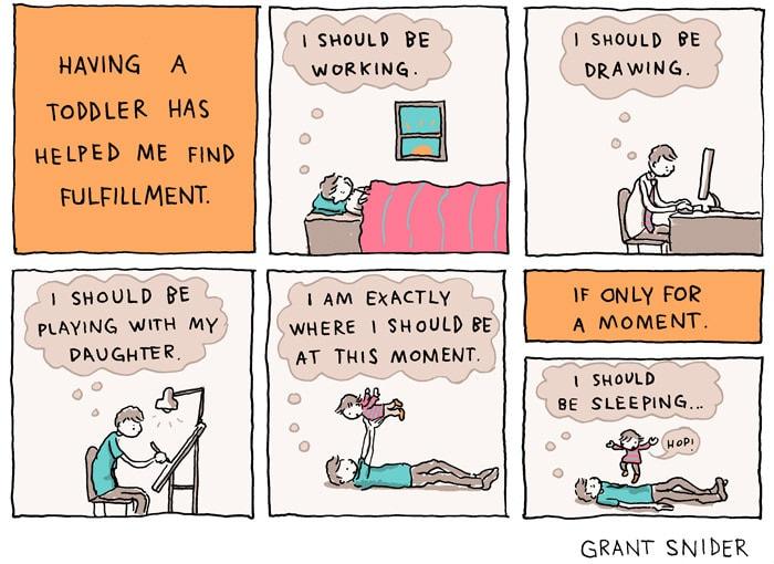 Viața de părinte – într-o mini-carte ilustrată