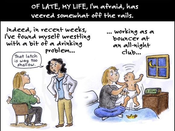 O bandă desenată cu viața unei proaspete mămici