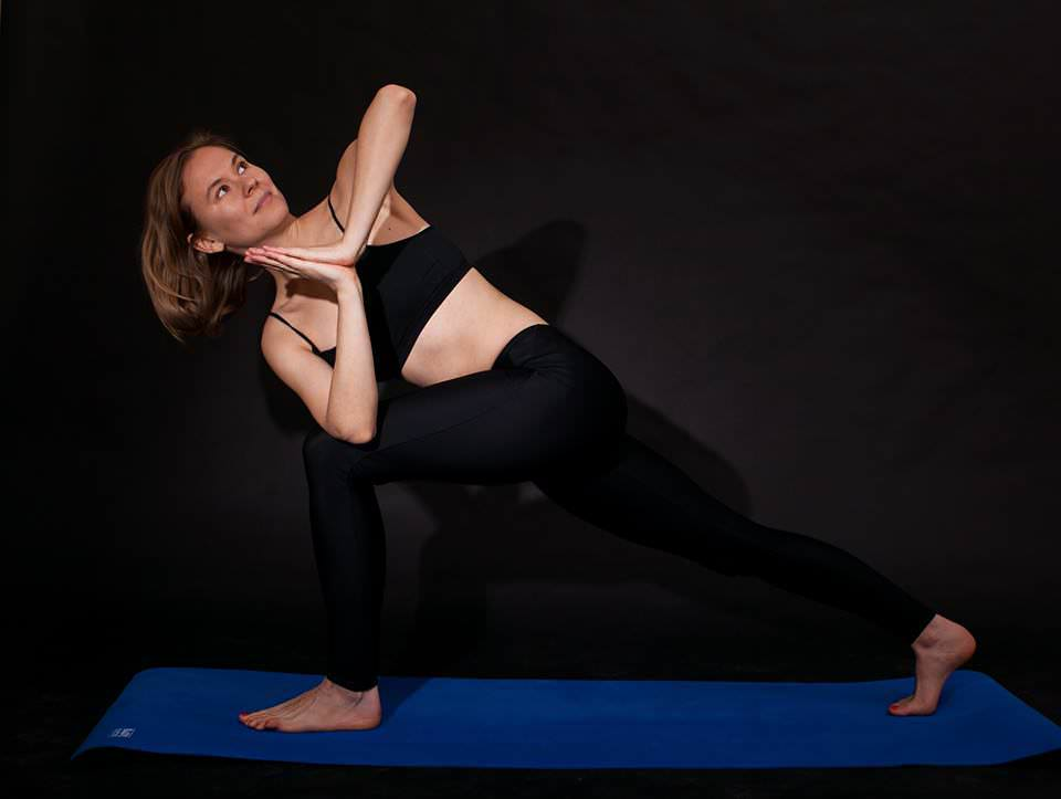 elena doing yoga