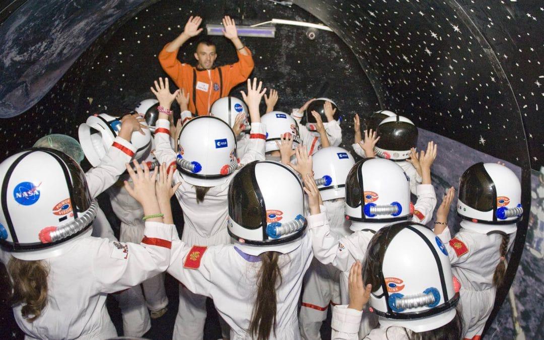 O experiență inedită pentru micii astronauți