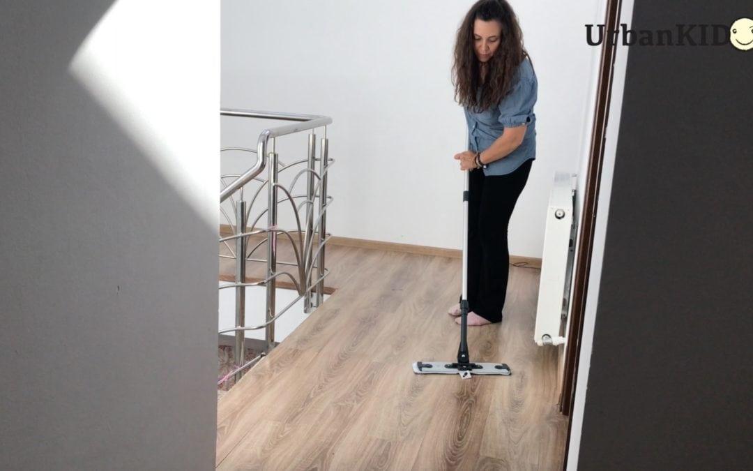 Repede, curat și uscat – testare Moppy – mop cu abur de la Polti
