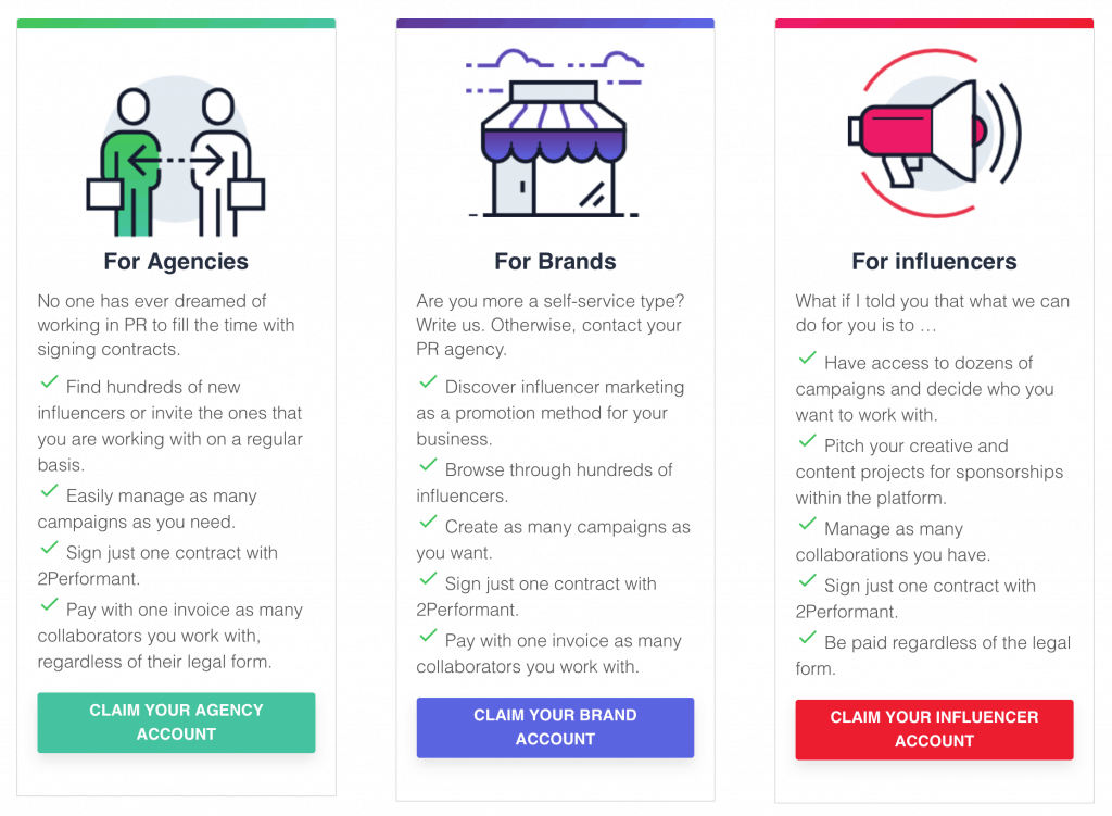 2Performant influencer marketing