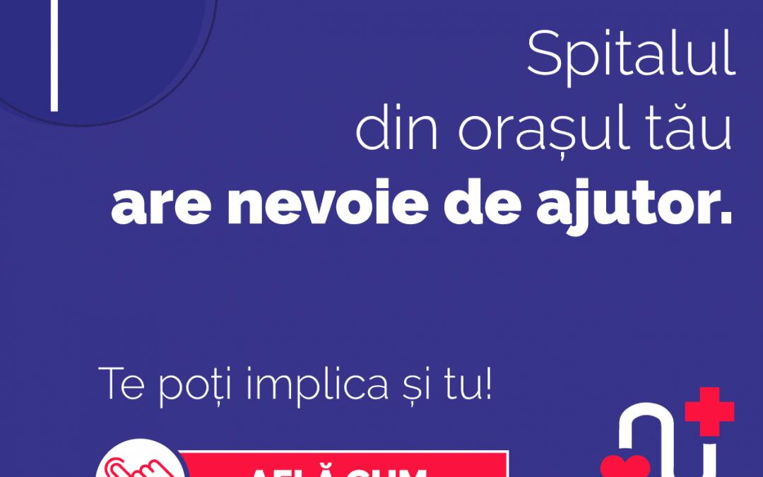 #AjutorSpitale: Ajută spitalul din județul tău în lupta împotriva COVID-19!