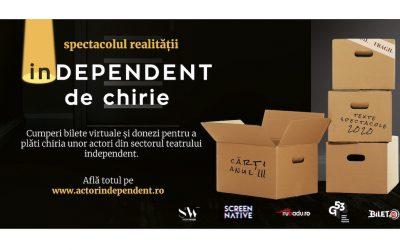 Cât de independent e cu adevărat un actor din sectorul teatrelor independente? #PlăteșteChiria